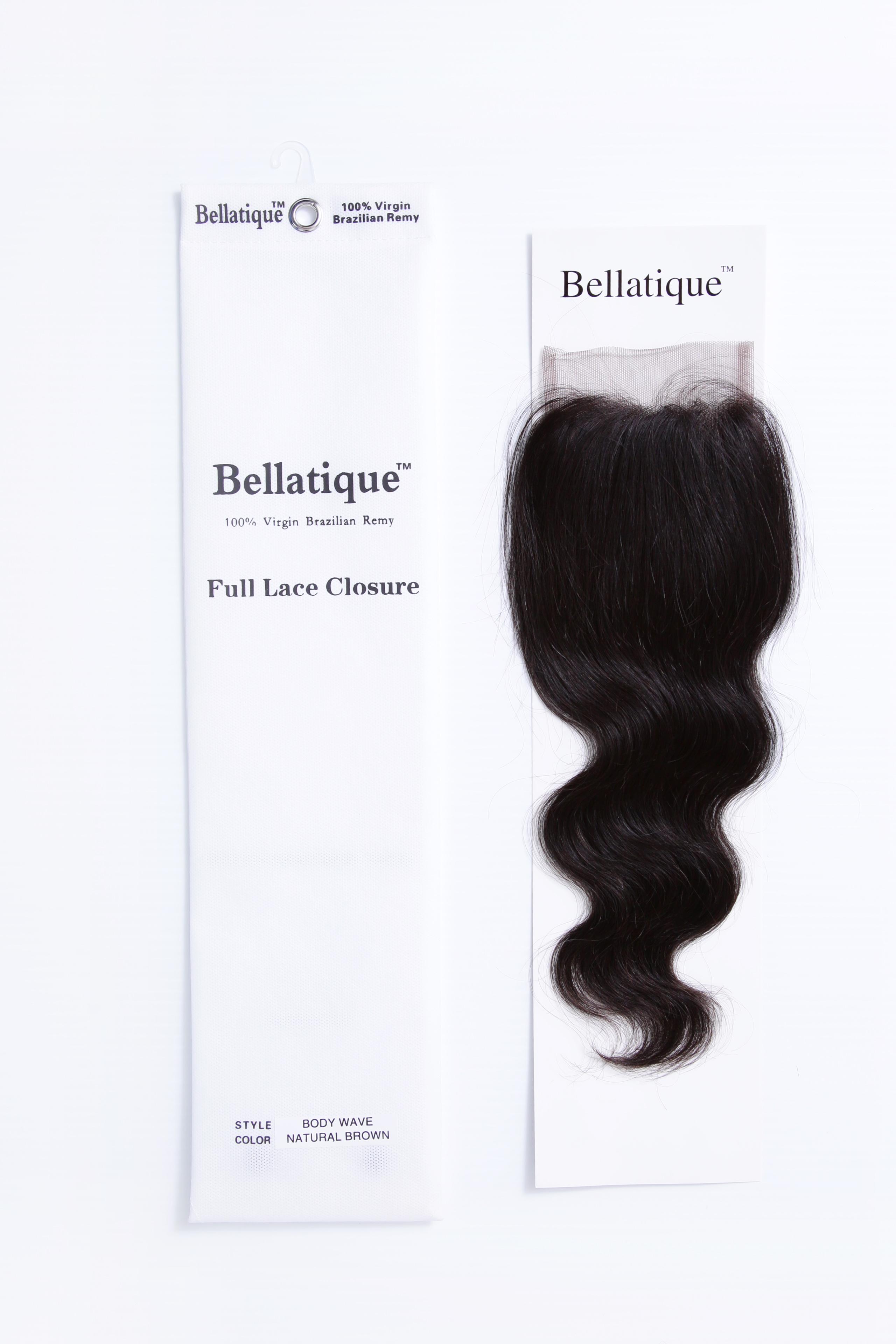 Bellatique 9a Full Lace Closure 4 X 4 Boday Wave 100