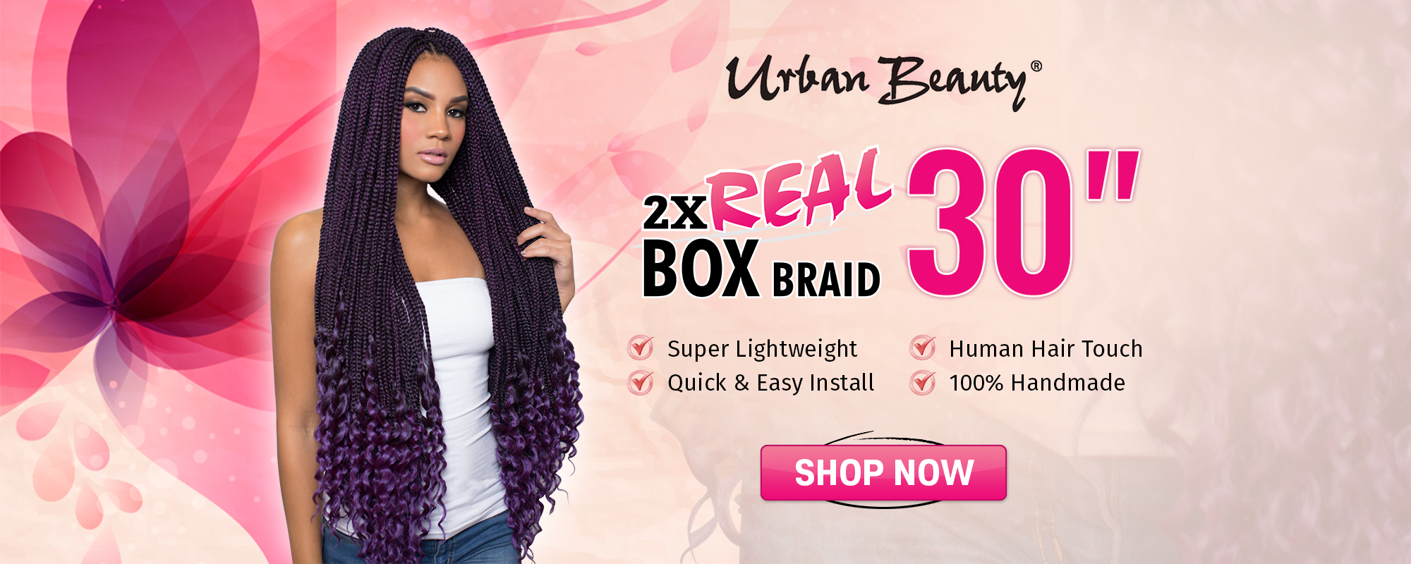 Urban Beauty 2x Real Box Braid 30 Hair Depot Online